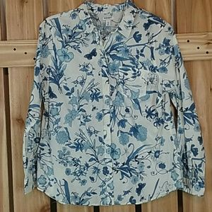 Old Navy Button Down Floral Blouse